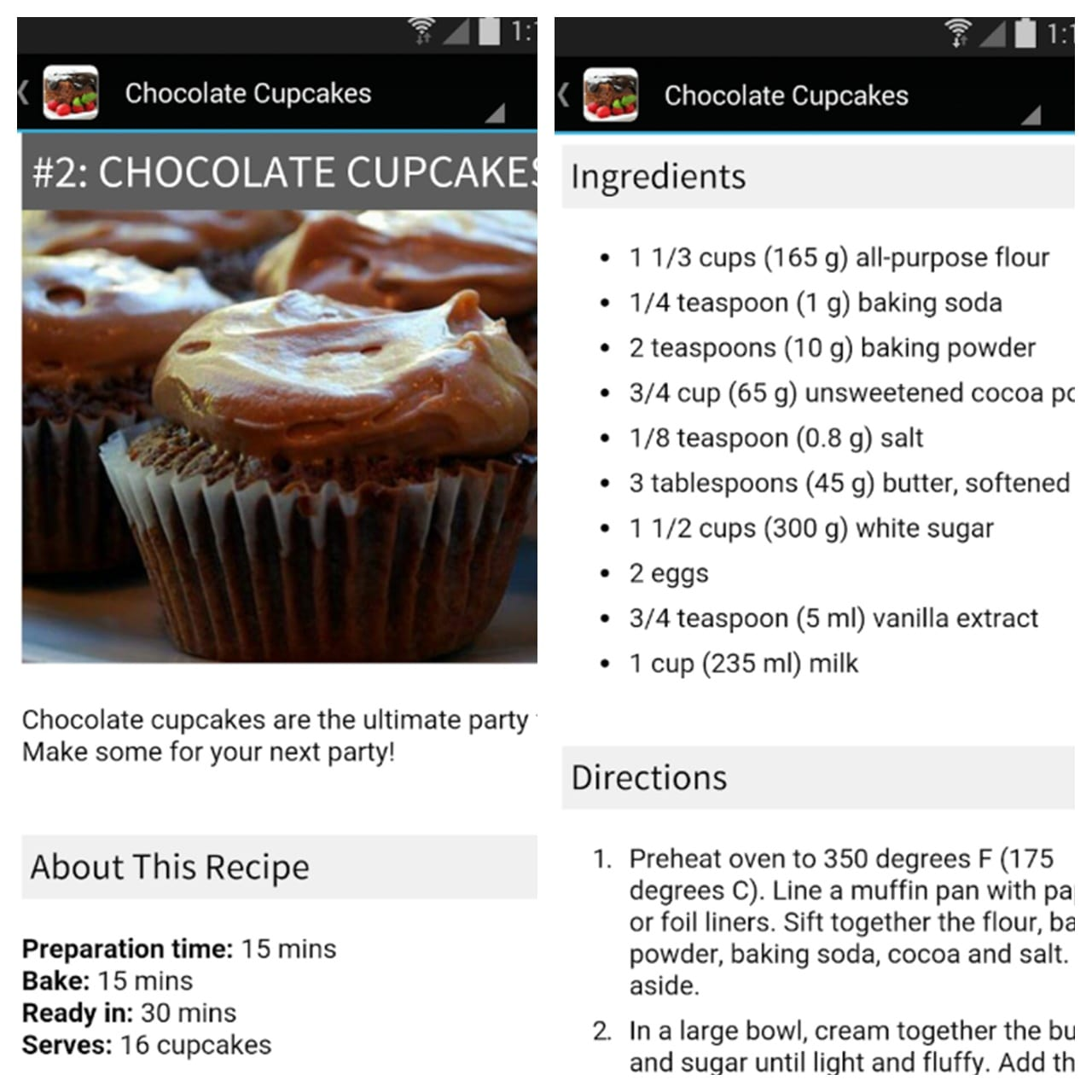 chocolate cake recipes app